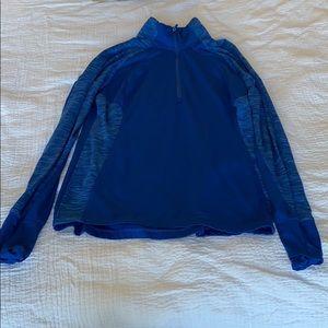 Blue half zip up pullover